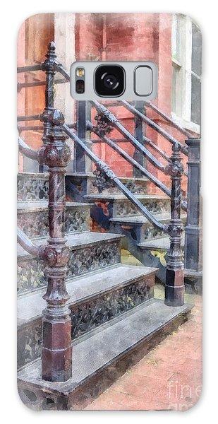 Bricks Galaxy Case - Rowhouse Stairs Washington Dc Neighborhood by Edward Fielding