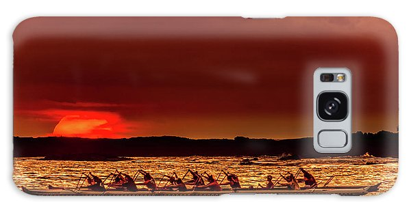 Rowing In The Sunset Galaxy Case