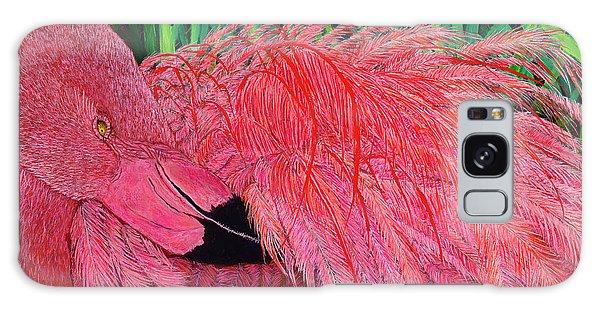Ruffled Flamingo Galaxy Case