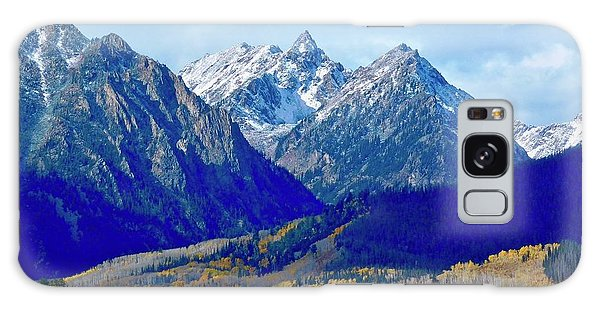 Galaxy Case featuring the photograph Rugged Peaks by Dan Miller