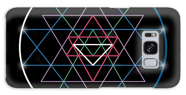 Spirituality Galaxy Case - Sacred Geometry And Alchemy Symbol Sri by Maddyz