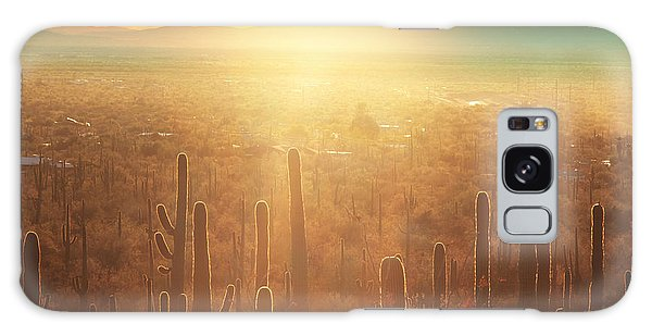 Desert Flora Galaxy Case - Saguaro National Park by Galyna Andrushko