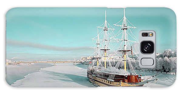 Marina Galaxy Case - Sailboat On Pier by Basel101658