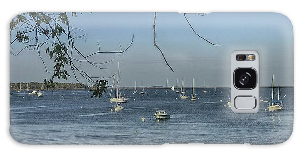 Sailboats In Rockland Harbor Galaxy Case