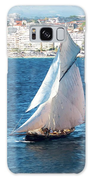 Sailing At Cannes Portrait Two Galaxy Case