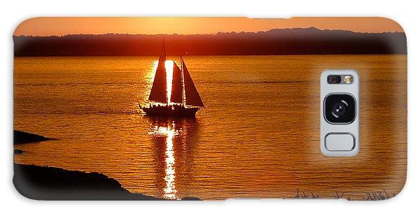 Sailing At Sunset Galaxy Case