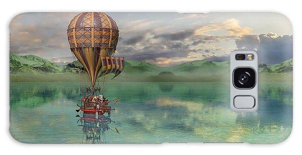 Hot Air Balloons Galaxy Case - Sailing Away Daydream Steampunk by Betsy Knapp