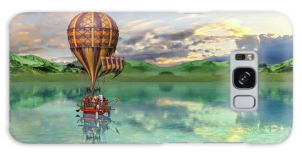 Hot Air Balloons Galaxy Case - Sailing Away Daydream Steampunk Custom by Betsy Knapp