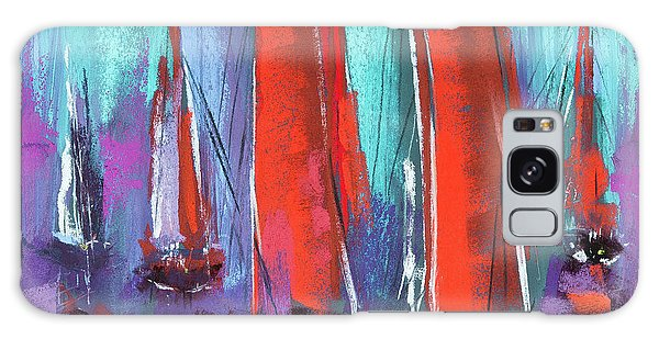 Galaxy Case featuring the pastel Sailing by David Patterson