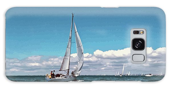 Sailing Regatta On A Brisk Summer's Day Galaxy Case