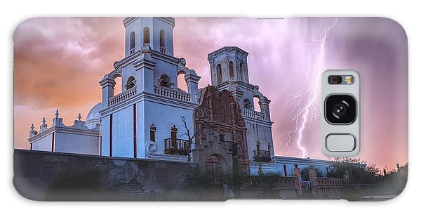 San Xavier Mission Lightning Galaxy Case