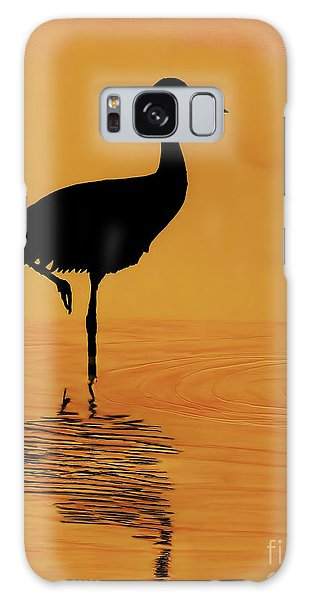 Sandhill - Crane - Sunset Galaxy Case