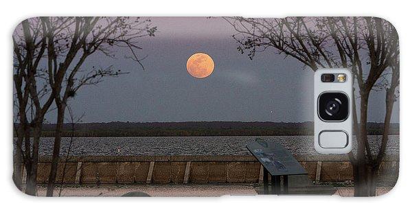 Sanford Riverwalk-moonrise-9395 Galaxy Case