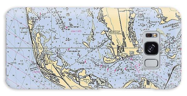 Sanibel And Captiva Islands Nautical Chart Galaxy Case