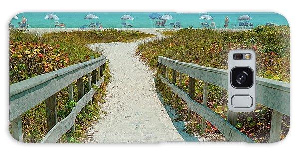Sanibel Beach Umbrellas Galaxy Case