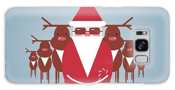 Santa Claus Galaxy Case - Santa And His Reindeer Gang by Popmarleo