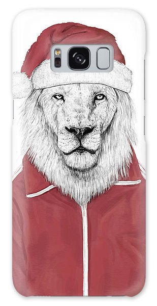 Lion Galaxy Case - Santa Lion  by Balazs Solti