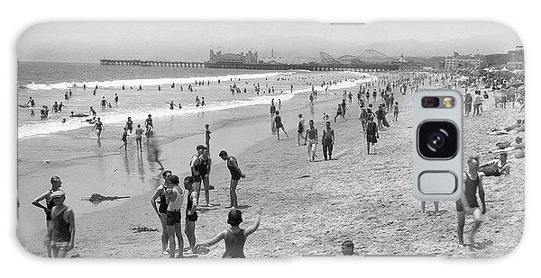 Santa Monica Beach Circa 1920 Galaxy Case