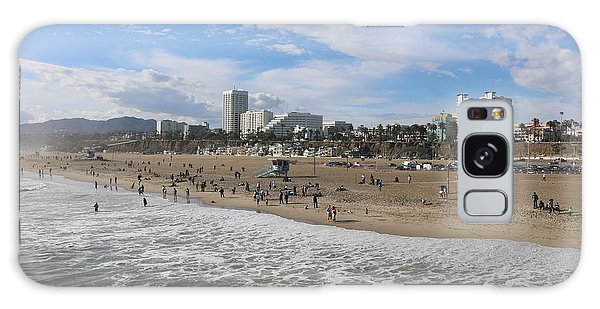 Santa Monica Beach, Santa Monica, California Galaxy Case