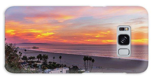 Santa Monica Pier Sunset - 11.1.18  Galaxy Case