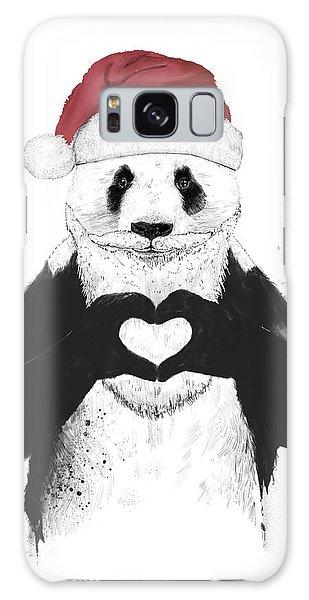 Santa Claus Galaxy Case - Santa Panda by Balazs Solti