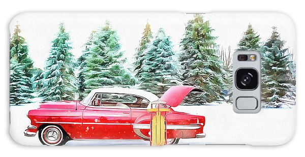 Galaxy Case featuring the painting Santa's Other Sleigh by Harry Warrick