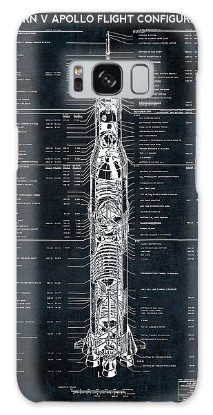Patent Galaxy Case - Saturn V Apollo Moon Mission Rocket Blueprint  1967 by Daniel Hagerman