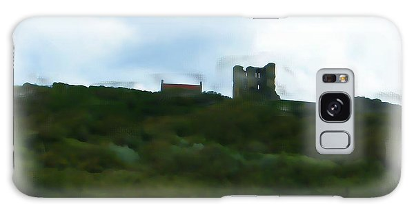 Scarborough Castle Painting Galaxy Case