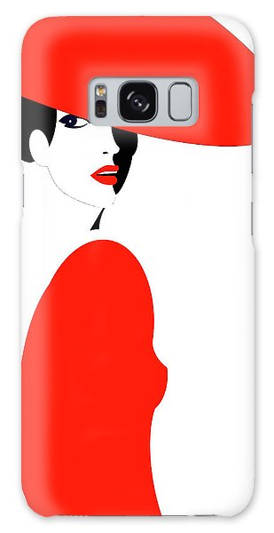 Galaxy Case - Lady In Red by Digital Painting
