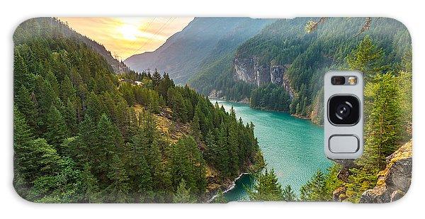 Pass Galaxy Case - Scene Over Diablo Lake When Sunrise In by Checubus