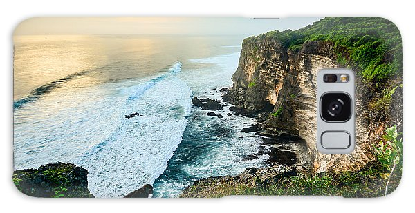 Scenery Galaxy Case - Scenic Coastal Landscape Of High Cliff by Zephyr p