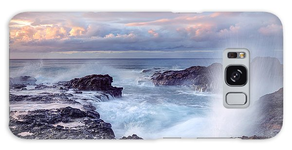 Scenery Galaxy Case - Scenic View Of Blowhole On Rocky by Infografick