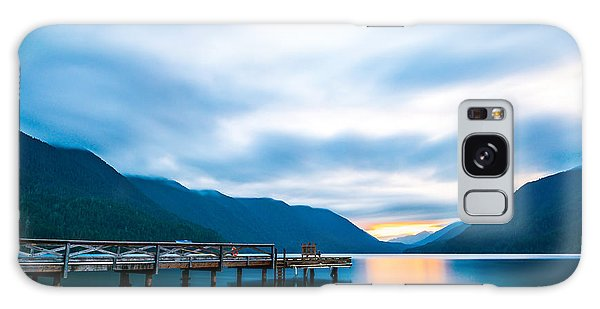 Highland Galaxy Case - Scenic View Of  Dock In  Lake Crescent by Checubus