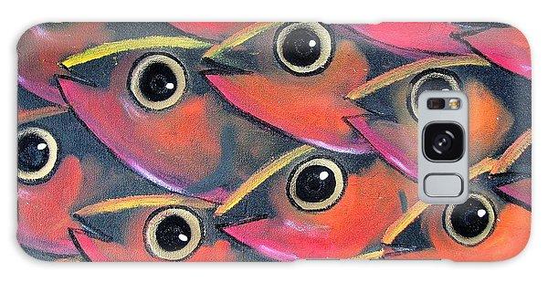 Galaxy Case - School Of Eyes by Joan Stratton