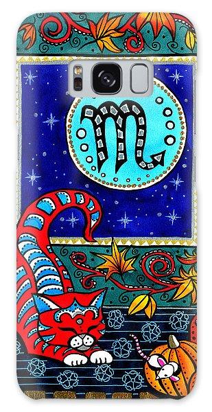 Scorpio Cat Zodiac Galaxy Case