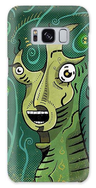 Galaxy Case featuring the digital art Scream by Sotuland Art