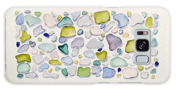 Sea Glass Hearts Galaxy Case