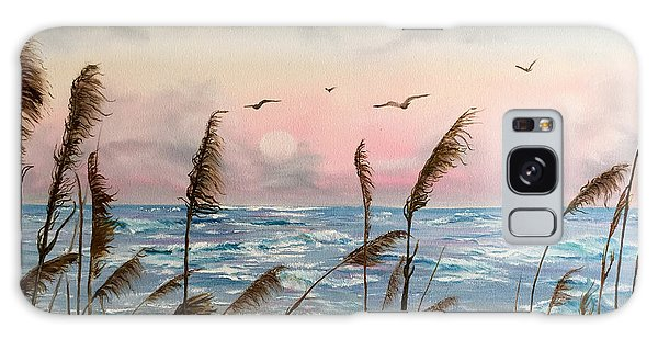Sea Oats And Seagulls  Galaxy Case