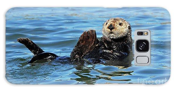 Sea Otter Primping Galaxy Case