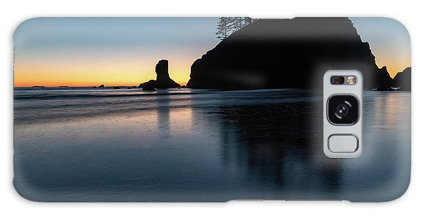 Sea Stack Silhouette Galaxy Case
