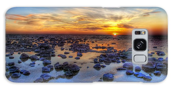 Tide Galaxy Case - Sea Stones At Sunset by Deniss Dronin