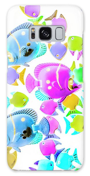 Neon Galaxy Case - Sea Swimmers by Jorgo Photography - Wall Art Gallery