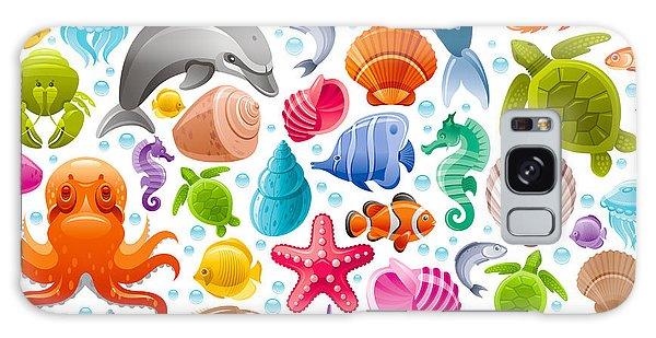 Turtle Galaxy Case - Sea Travel Seamless Background With by Olgachernyak