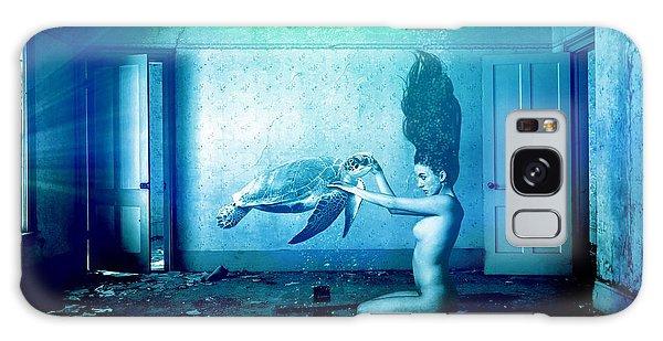 Turtle Galaxy Case - Sea Turtle And Woman by ArtMarketJapan