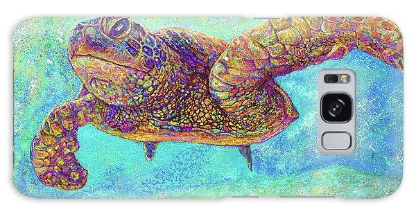 Reef Diving Galaxy Case - Sea Turtle by Julianne Black DiBlasi