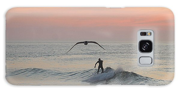 Seagull And A Surfer Galaxy Case
