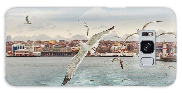 Seagulls Galaxy Case - Seagull Istanbul, Bosporus, Turkey by Primephoto