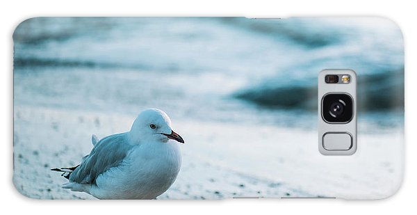 Galaxy Case featuring the photograph Seagull On The Beach. by Rob D