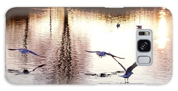 Seagulls In The Morning Galaxy Case