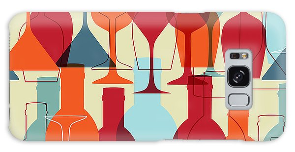 Martini Galaxy Case - Seamless Background With Wine Bottles by Mcherevan